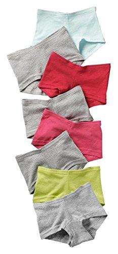 Hanes Girls Cotton Boy Short (Hanes Girls Cotton Boy Short Panties 8-Pack, Assorted,)