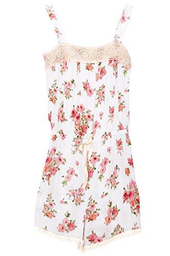 UPC 791586564139, Poshsquare Big Girls Kids Fashion White Lace Flower Floral Cream Sleeveless Romper Jumpsuit GPR2 M