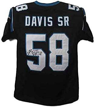 Thomas Davis Autographed Carolina Size XL Black Jersey JSA at ...
