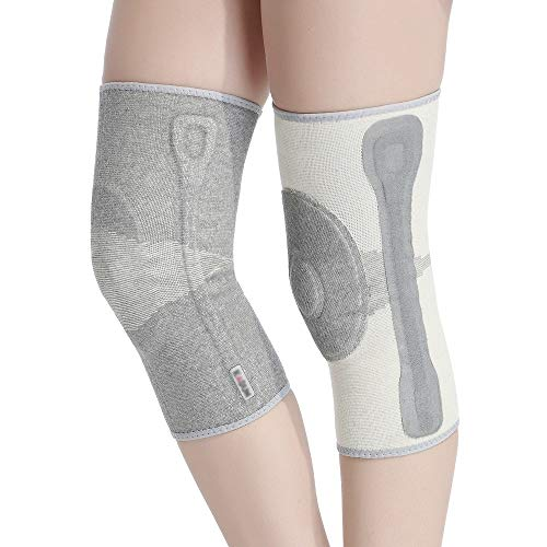 TY BEI Kneepad Kneepad Men and Women Warm Knee Joints Plus Velvet Thickening Self-Heating Knee Pads - 5 Sizes Optional @@ (Color : Gray, Size : S) by TY BEI (Image #5)
