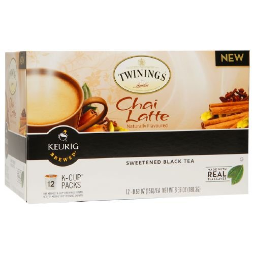 Twinings Sweetened Black Tea, Chai Latte 12 ea (Pack Of 4) by Twinings