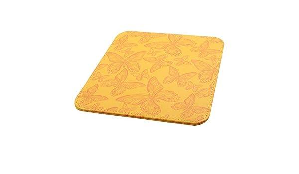 Amazon.com : PC resistencia al agua Patrón eDealMax Mariposa PU ratones de la estera del juego alfombrilla de ratón Amarillo : Office Products