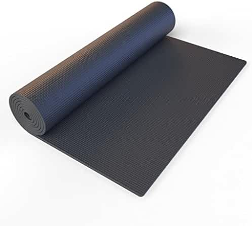 Yoga Mat. This Black GoYoga All-purpose, Extra Thick, High Density, Anti-tear, Non-Slip, Portable Pad, Best For Outdoor & Indoor Exercise Accessorie. Light Weight & Easy Travel With Carrying Strap.