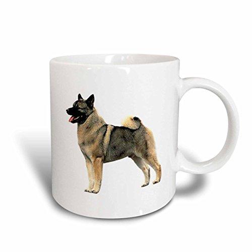 3dRose Norwegian Elkhound Mug, 11-Ounce