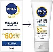 Protetor Solar Facial NIVEA SUN Toque Seco Antissinais FPS60 50ml, Nivea