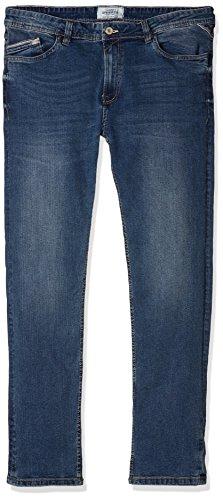 Springfield Medio Blue para Ensuciado Azul Denim Hombre Slim Relaxed Lavado Vaqueros 6rAS6xqt