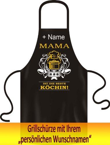 Fun Grillschürze Kochschürze! Mama ist die beste Köchin! + Wunschname!