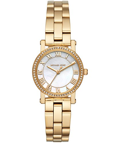 Mother Of Pearl Slippers - Michael Kors Women's Analog-Quartz Watch with Stainless-Steel Strap, Gold, 14 (Model: MK3682)