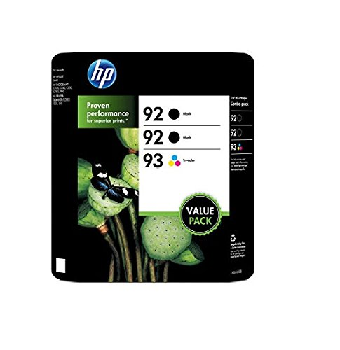 HP 92/92/93 Original Ink Cartridge, Black/Tri-Color (3 pk., 220 Page Yield)