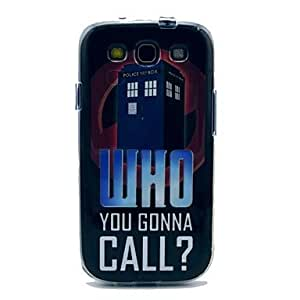 TOPAA Who You Gonna Call Telephone Box Pattern TPU Soft Case Cover for Galaxy S3 I9300