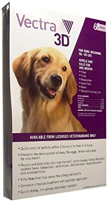 Vectra 3D PURPLE for Dogs 56-95 lbs - 6 Doses from Summit VetPharm