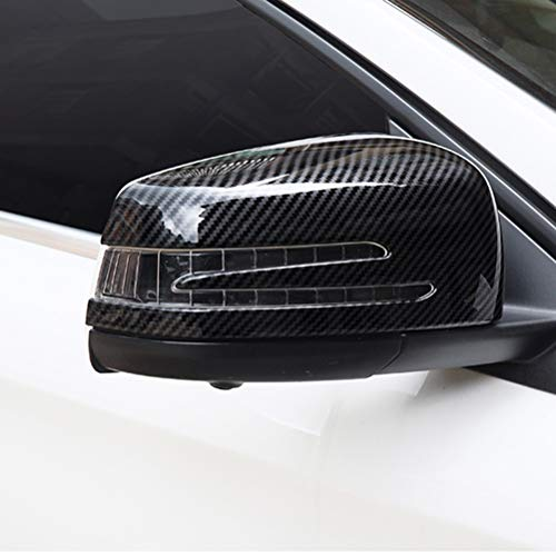 NINTE ABS Carbon Fiber Mirror Covers for Benz W204 C63 C250 C300 C350 W117  W176 W207 W212 W218 W212 X156(A B C E S CLA CLS GLA class)