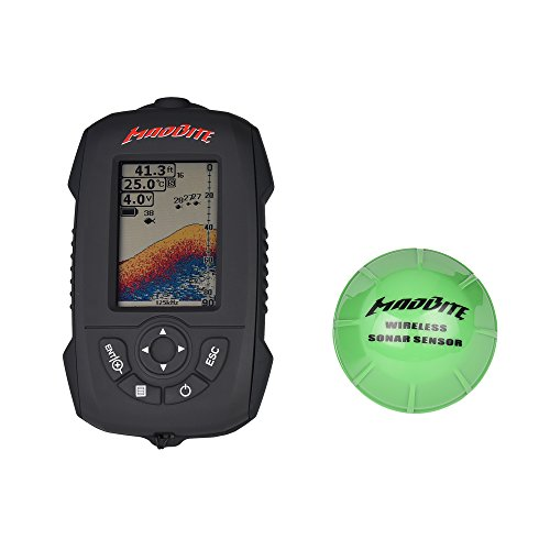 MadBite FX3000 Fish Finder with Wireless Sonar Sensor, Sunlight Readable Color LCD Screen - Portable, Floats, Water Resistant, Finds Fish Faster Eposeidon Fish Finders And Other Electronics