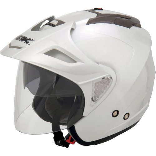 AFX FX-50 Solid Helmet , Gender: Mens/Unisex, Helmet Type: Open-face Helmets, Helmet Category: Street, Distinct Name: Pearl White, Primary Color: White, Size: 2XL 0104-1380