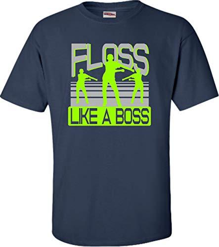 (Small Navy Blue Adult Floss Like A Boss T-Shirt)