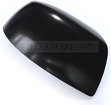 Izquierdo y Derecho Underground Parts Juego de 2 Fundas para Espejos retrovisores Color Negro met/álico