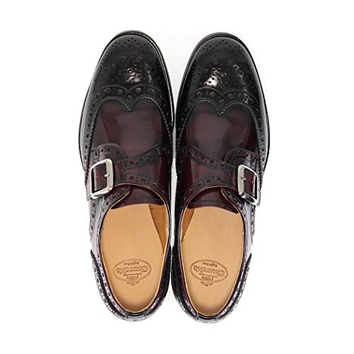 LIGHT STRAP BURGUNDY PATTIE ZAPATO MONK CORDONES CHURCH'S BLACK tCnqnXFxw