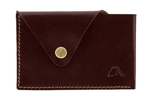 Card SLIM Wallet Leather Mahogany Tsuki Mahogany or A Minimalist Holder Brown Brown XSW33 Business xIq8Ed