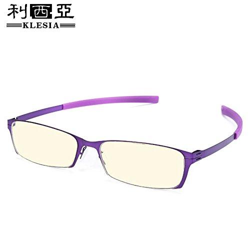 de rojo KOMNY espectáculos y Oxblood anti Violet ordenador gafas azul juego vasos Gafas mirror pequeños móvil WRqHrRTp0
