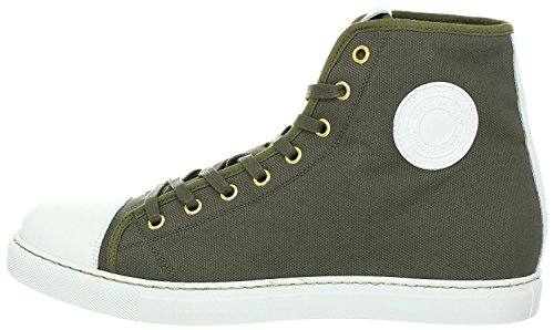 Marc Jacobs Leather Trimmed Textured Canvas Trooper High-Top (8 - By Jacobs Marc Marc Uk