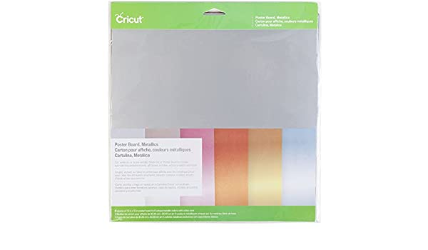 Amazon.com: Cricut 2002741 Metallic Poster Board (2 packs): Arts, Crafts & Sewing