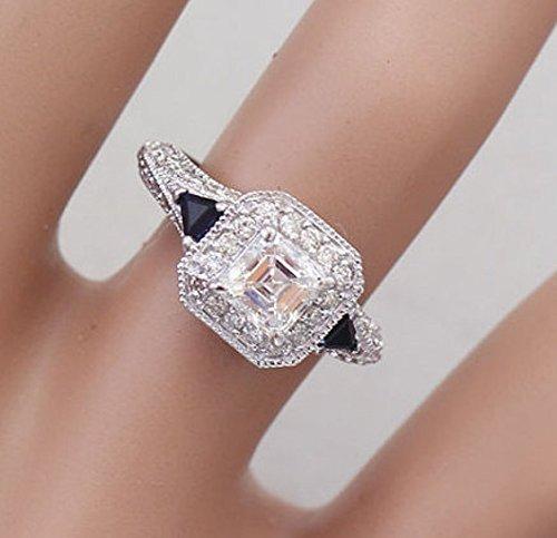 18k Asscher Ring - 9