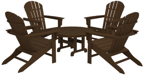 Cape Cod Chairs (Trex Outdoor Furniture by Polywood 5-Piece Cape Cod Adirondack Conversation Group, Tree House)