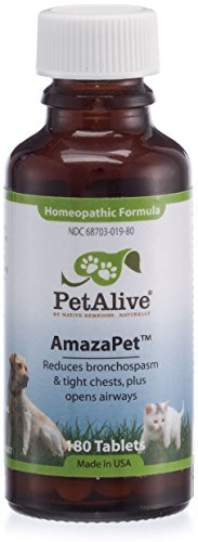 PetAlive AmazaPet Tablets - A Homeopathic Remedy for Easier Breathing, Improved Respiratory Function and Healthy Lungs (Best Remedy For Asthma Cough)