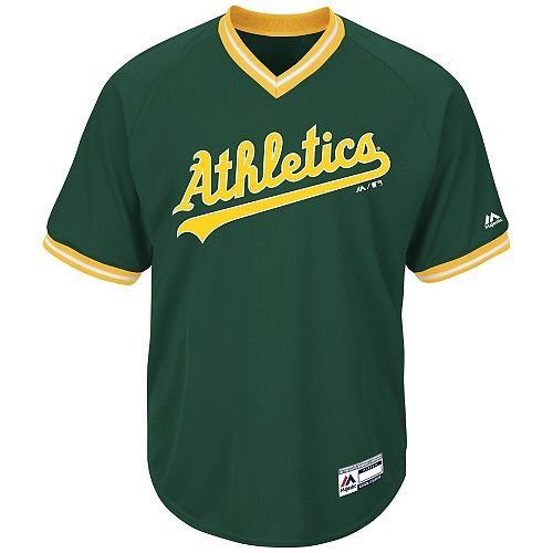 Adult XL Oakland Athletics BLANK BACK Major League Baseball Cool-Base V-Neck Jersey