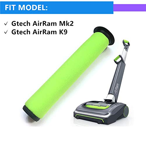 Sweet D Washable Gtech Filters Mk2 K9 For Gtech AirRam Mk2 K9 Cordless Vacuum Cleaner