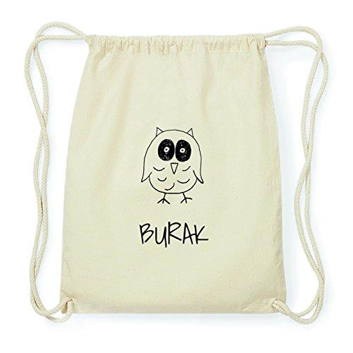 JOllipets BURAK Hipster Turnbeutel Tasche Rucksack aus Baumwolle Design: Eule i4fLzK4VL