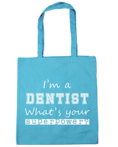 Beach Blue 10 Bag Your What's Surf x38cm 42cm Shopping A litres HippoWarehouse Dentist Superpower Gym I'm Tote qvOavTz