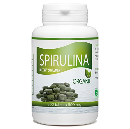 Organic Spirulina- 500 mg per tablet – 300 Tablets For Sale