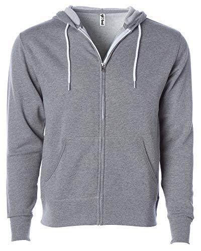 Global Blank Unisex Hooded Fleece Jacket Zip-Up