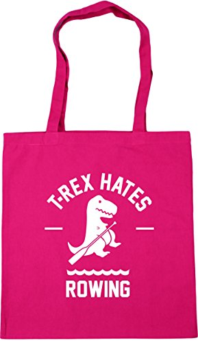 HippoWarehouse 42cm 10 Gym Fuchsia Tote litres Rowing Bag x38cm Beach Shopping T Rex Hates wPFzcqrwA