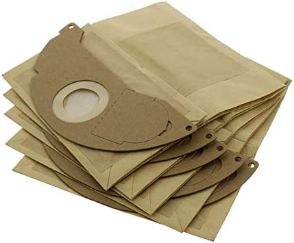 Filtro de Cartucho de Repuesto y Bolsas de Papel X5 para aspiradora Karcher Hoover Find A