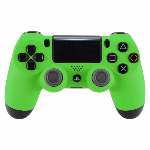 PS4 Dualshock Playstation 4 Wireless Controller Custom Soft Touch New Model (Green)