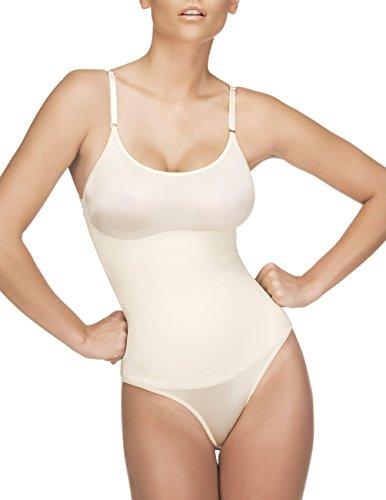 - Vedette Womens Shapewear 105 Lea Bodysuit in Bikini (L (38), Nude)