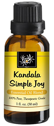 Simple Joy Essential Oil Blend - 30 ml - Let go of Depression, Sadness, Anxiety with Uplifting Scents of Lavender, Ylang Ylang, Palmarosa, Mandarin. Therapeutic, Mind and Soul Comforting Aromatherapy (Best Antidepressant For Fatigue And Anxiety)