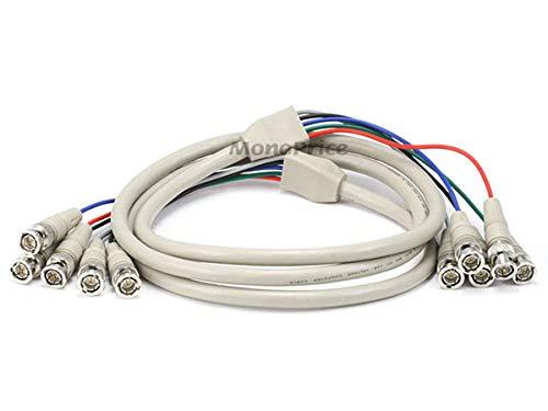 6ft 5-BNC RGB to 5-BNC RGB Video - Component Bnc Video Cable