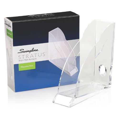 Swingline Stratus Acrylic Magazine Rack, 10.5 x 10.25 x 3.5, Clear (S7010133) (Catalogs Home Decor Upscale)