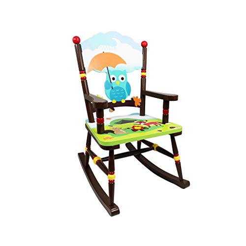 HYYTY-Y Kids Rocking Chair, Wooden Hand-Painted Jungle Armchair Child Girl (Color : - Childrens Hand Chair Painted Jungle
