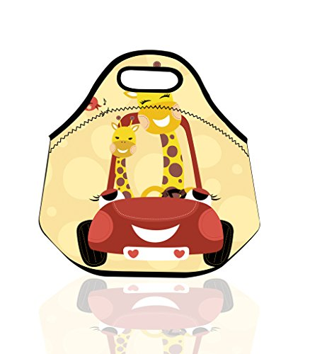 Easy Wash and Take Giraffe Newlyweds Honeymoon Best Picnic Hamper and Cooler Student Academy Lunch Bag Baby Luch Bags
