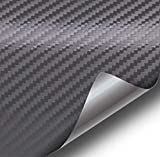 VViViD XPO Dark Grey Carbon Fiber Car Wrap Vinyl Roll with Air Release Technology (50ft x 5ft (Full Car Wrap Roll))