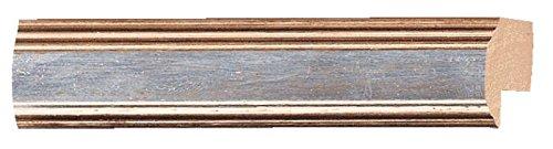 Picture Frame Moulding (Wood) 18ft bundle - Contemporary Antique Silver Finish - 0.75