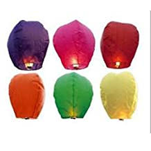 Purewill Best Wishes 4pcs/Lot Wishing Lamp Large Round Paper Chinese Lantern Flying Paper Sky Lanterns party favor for birthday wedding party