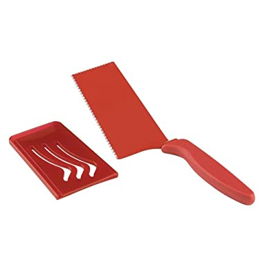 Kuhn Rikon Dual Edge Slice and Serve Slicer, 10-Inch, Red