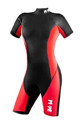 Red Shorty Wetsuit (PI-PE Ladies Neopren Wetsuit Shorty Pure L Red)