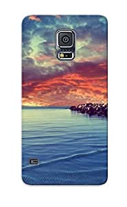 Fashionable Style Case Cover Skin Series For Galaxy S5- Sunset Over The Rocky Beach