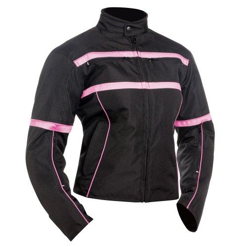BILT Women's Helia Waterproof Vented Textile Motorcycle Jacket - 2XL, Pink/Black by Bilt